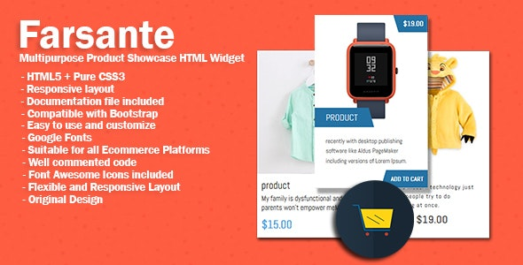 Farsante  Multipurpose Product Showcase HTML Widget - CodeCanyon Item for Sale
