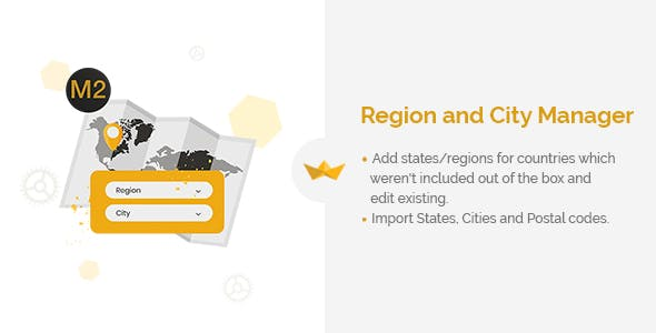 Region and City Manager for Magento 2