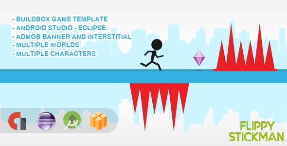 Flippy Stickman - Android Studio + Eclipse + Buildbox Template - CodeCanyon Item for Sale