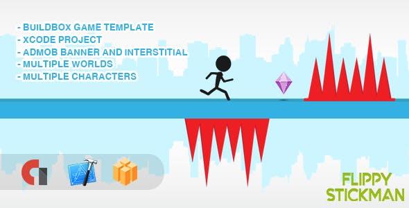 Flippy Stickman - IOS XCODE Source + Buildbox Template