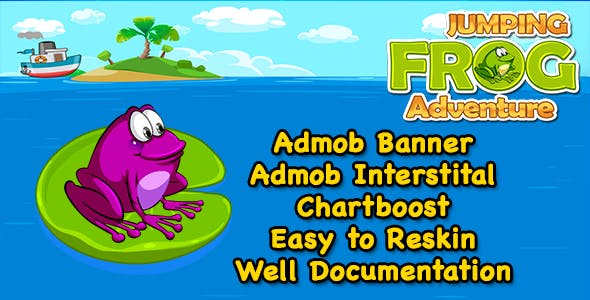 Jumping Frog Adventure + Easy To Reskin + Admob