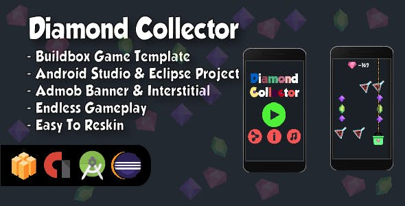 Diamond Collector - Android Studio and Eclipse Project and Buildbox Template