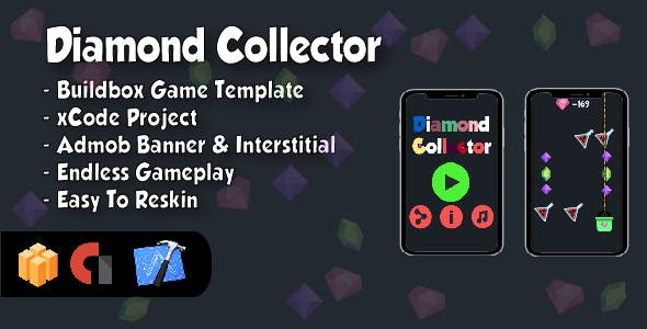 Diamond Collector - IOS xCode Project and Buildbox Game Template
