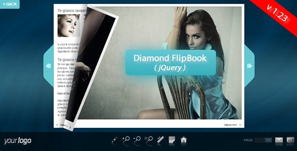 Diamond FlipBook - jQuery