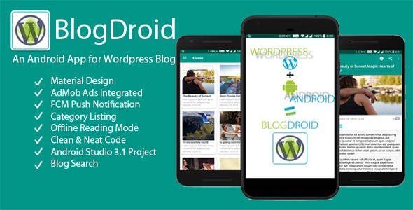 BlogDroid - Premium Wordpress Blog App with Push