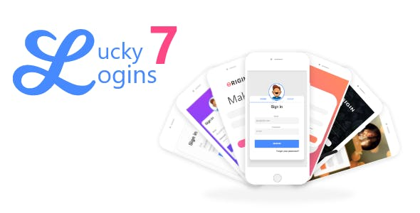 Ionic Lucky 7 Logins