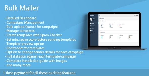 Bulk Mailer - mass email software - CodeCanyon Item for Sale