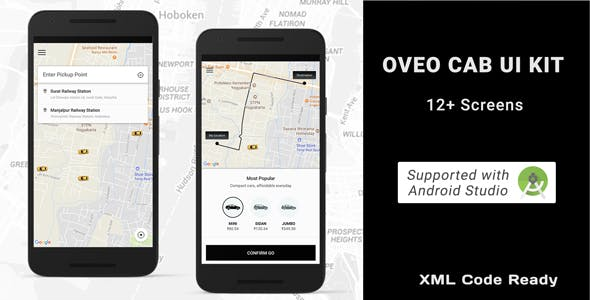 Taxi booking app ui with android code