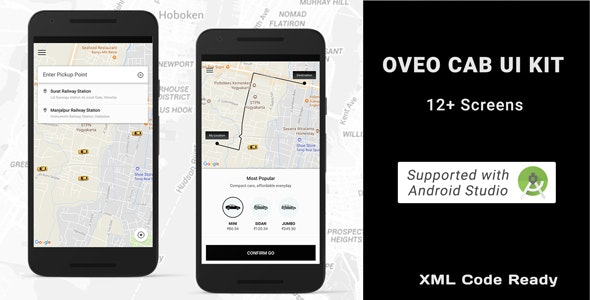 Taxi booking app ui with android code - CodeCanyon Item for Sale