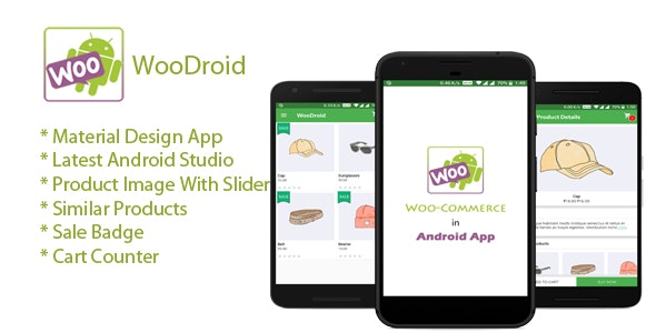 WooDroid - An Android app with Woocommerce Store - CodeCanyon Item for Sale