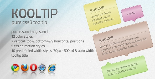 Kooltip - CSS3 tooltip - CodeCanyon Item for Sale