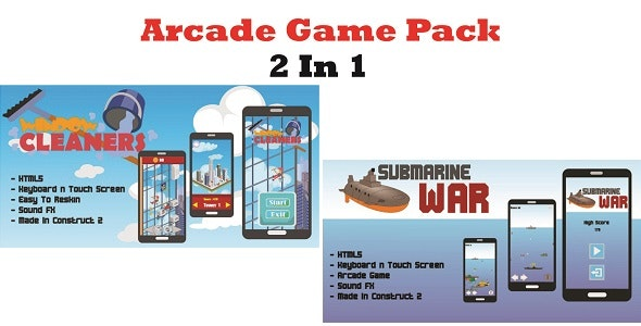 2 in 1 Arcade Game Pack (Construct 2) - CodeCanyon Item for Sale