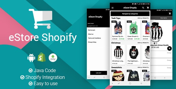 eStore Shopify - Android App - CodeCanyon Item for Sale
