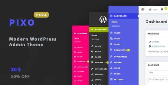 WordPress Admin Theme - Pixo - CodeCanyon Item for Sale