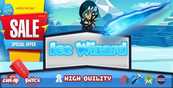 ice wizard Adventure (Admob+Android Studio) - CodeCanyon Item for Sale