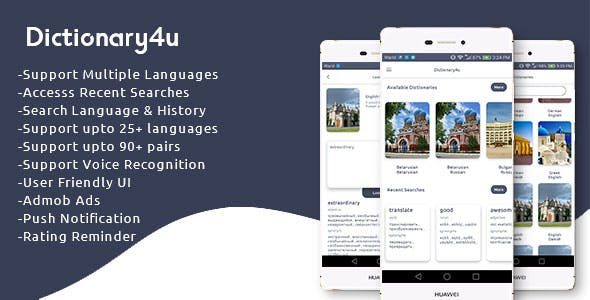 Dictionary4u (Multiple Languages + Search History)