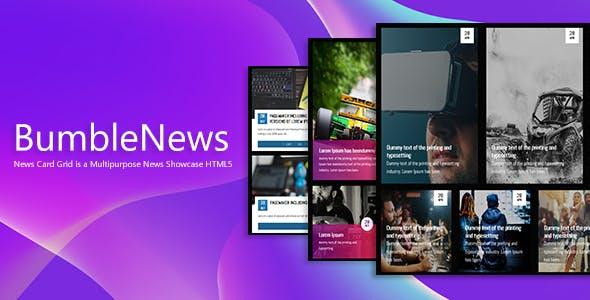 BumbleNews - News Card Grid Showcase