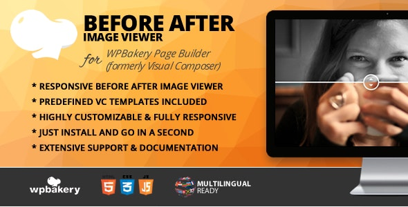 Before & After Image Viewer Addon for WPBakery Page Builder (formerly Visual Composer) - CodeCanyon Item for Sale