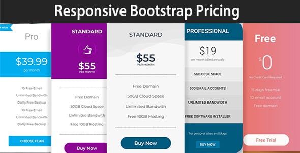 ELEMA - Bootstrap Pricing Tables