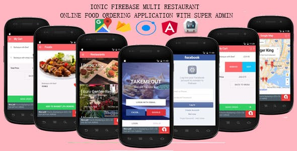 Ionic Firebase - Multi Restaurant Online Food Ordering System