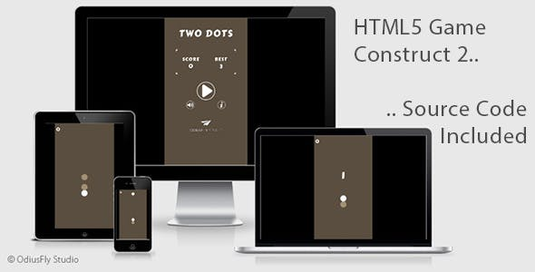 Two Dots - HTML5 Game (Construct 2)