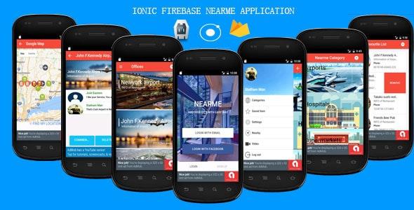 IONIC FIREBASE - NEARME APP - CodeCanyon Item for Sale