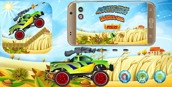 Monster Truck Machine Gun With Admob Banner & Interstitial (Android Studio Project) - CodeCanyon Item for Sale