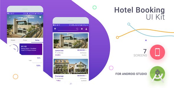 Hotel Booing UI KIT With XML Source Code