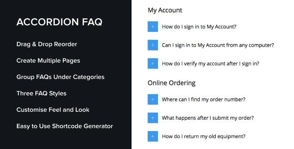Accordion FAQ WordPress Plugin - CodeCanyon Item for Sale