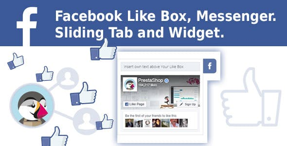 Facebook Like Box, Messenger. Sliding Tab and Widget. Prestashop Module.