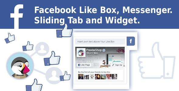 Facebook Like Box, Messenger. Sliding Tab and Widget. Prestashop Module. - CodeCanyon Item for Sale