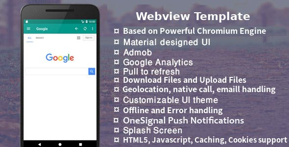 Easy Web - Android Native WebView | WebToApp Template with Admob and Push Notification