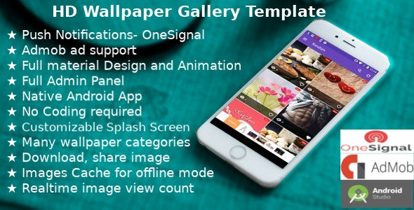 Wallpaper Gallery Template for Android with admob and push notification - CodeCanyon Item for Sale