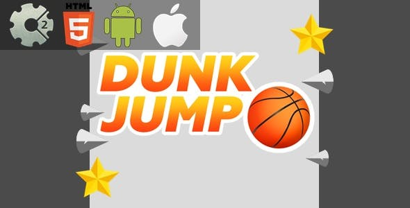 Dunk Jump - HTML5 Game + Mobile Version! (Construct-2 CAPX)