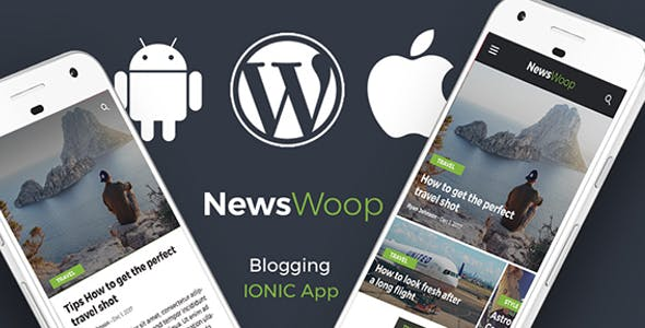 Wordpress News Android App + Wordpress blog iOS App | IONIC 3 | Full Application | Newswoop