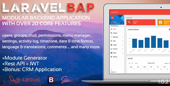 Laravel BAP - Modular Application Platform and CRM by