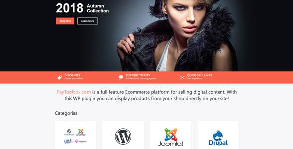 Wordpress Plugin Shop eCommerce PayToolbox