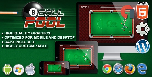 8 Ball Pool - HTML5 Construct 2 Game - CodeCanyon Item for Sale