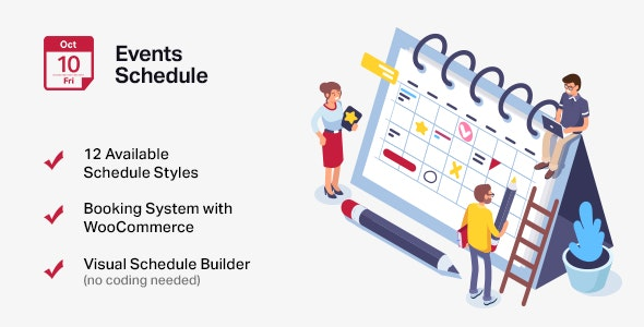 Events Schedule - WordPress Events Calendar Plugin - CodeCanyon Item for Sale