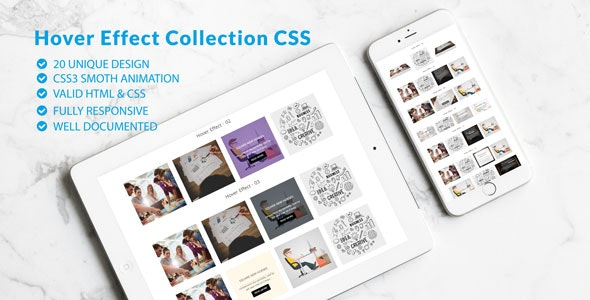 Image /Thumb Hover Effects Collection- Responsive Hover CSS Showcase - CodeCanyon Item for Sale