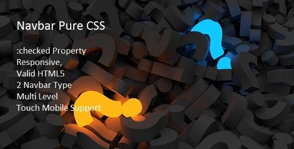 Navbar Pure CSS - CodeCanyon Item for Sale