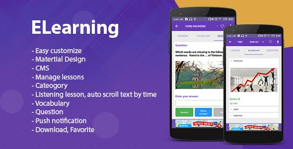 E Learning - Listening Android app