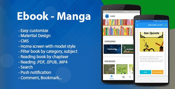 Ebook - Manga - Comic Android (Read multi format) - CodeCanyon Item for Sale