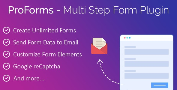 ProForms - WP Multi Step Contact Form Plugin - CodeCanyon Item for Sale