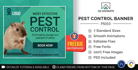 Professional Services | Pest Control Banner (PS010)
