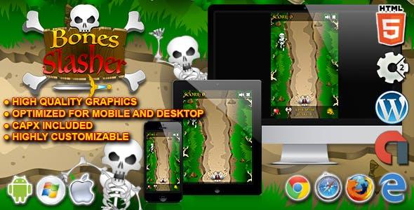 Bones Slasher - HTML5 Construct 2 Survival Game