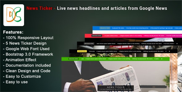 News Ticker - Live News Headlines and Articles from Google