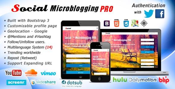 Social Microblogging PRO