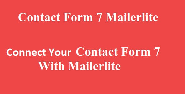 Contact Form 7 Mailerlite Integration