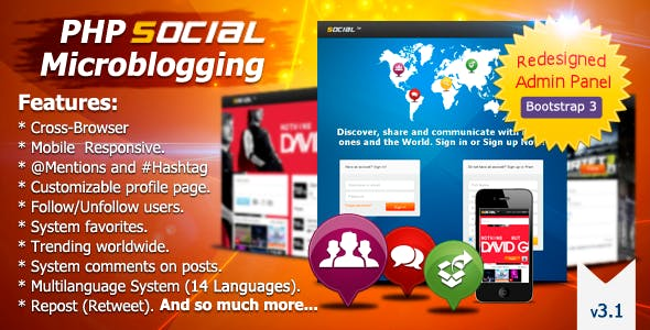 PHP Social Microblogging
